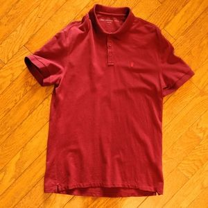 John Varvatos red polo shirt large
